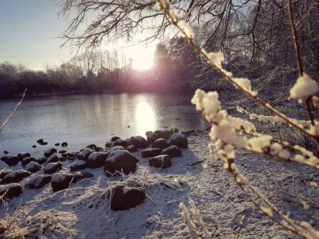 Winterlandschaft in Hamburg