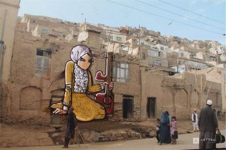 Illustration de l'artiste afghane, Shasia Hassana