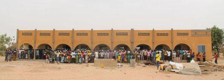 Neubau Schule von Kankalsi im Februar 2018