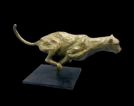 Bronze animalier, Sculpture, Bronze, guépard, Sophie Gérault, art animalier