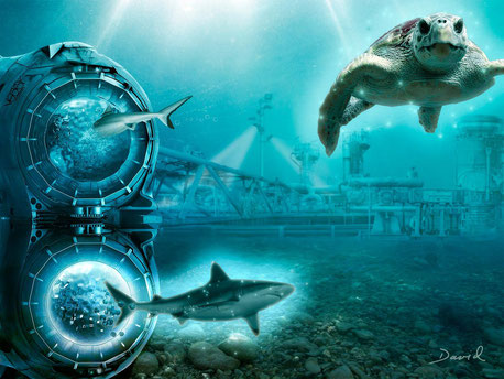 Composing: Das Geheimnis des Meeresleuchtens (Variante 2) [zum Vergrößern Anklicken]