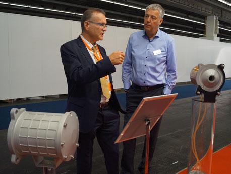 Rührreibgeschweißte wassergekühlte Elektro-motorengehäuse auf der IAA 2019
