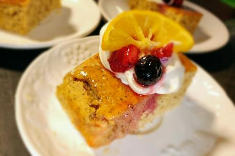 レモンと紅茶のケーキ