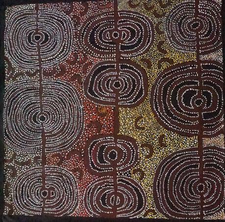 ビバリー・バートン「マイ・カントリー」アクリル・キャンバス 100x100cm