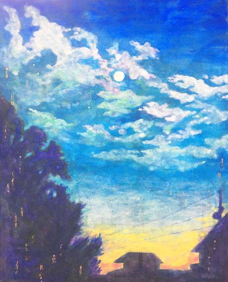 「あえかなるとき」 日本画 273×220mm