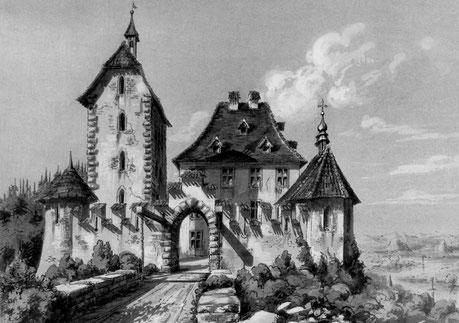 """die """"Alte Sandeck"""" 1817 - A. Vinolli, nach einer Skizze von E. Delisle"""