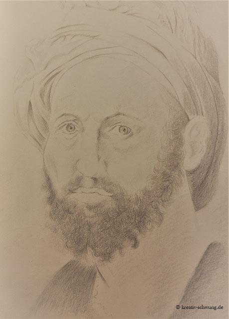Michelangelo, Selbstbildnis nach einer Vorlage von Michelangelo