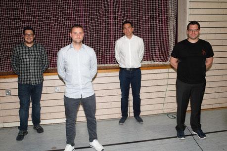 Foto: Jürgen Keller / neu gewähltes Vorstandsgremium: v.l.n.r. Daniel Schroth, Tobias Lutz, Erich Unruh, Tobias Eberhardt