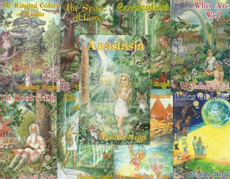 Bild: Englische Cover der Anastasia-Buchreihe