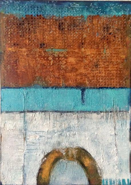 Leinwand, 50 x 70 cm, Mischtechnik - Christiana Sieben