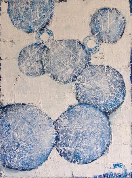"""""""SOLID"""" - Leinwand, 60 x 80 cm, Mischtechnik - Christiana Sieben"""