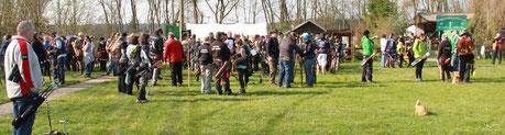Am 09.04.2016 fand unser 9. Heide-Waldpokal auf unser-em Bogenplatz in Merkwitz statt.  138 Bogenschützen aus 35 Vereinen, gingen in den mit 25  3 D Tieren gesteckten Parcour.