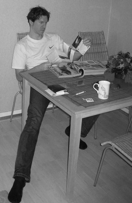 Ohne Koordination - auch am frühen Morgen - keine Reise: Die meisten Trips sind detailliert geplant, wie hier ein 2-Tagesausflug nach Schweden. Ausgangspunkt: Kongsmark/Römö, Dänemark (als Basislager). Foto zugesandt von Mikkel aus Finnland...