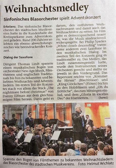 Aachener Zeitung vom 19.12.2017 - Artikel zum Vergrößern einfach anklicken