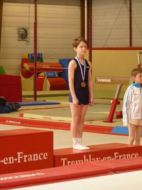 Clément sur le podium