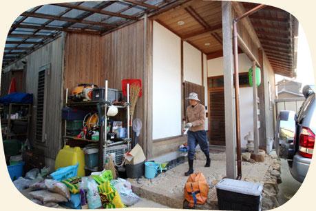 浜松市の植木屋・庭屋さん「門西造園」の社屋・倉庫