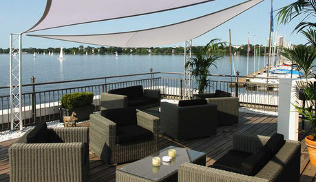 Alsterlounge, Alster Lake, Hamburg, Germany