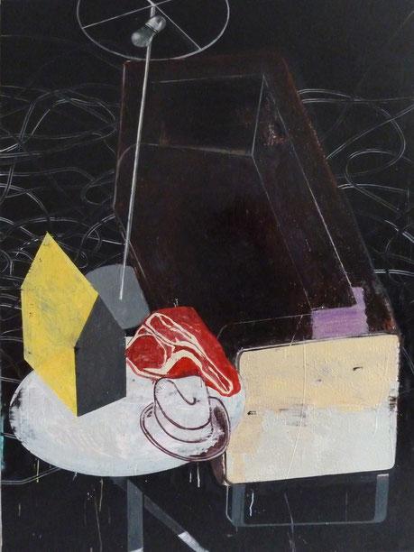 """Schögel's Schicksal II."", 2013, 160 x 110 cm, Öl auf Leinen"