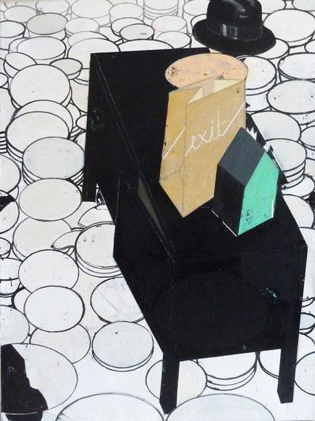 """Schögel's Schicksal,I."", 2013, 160 x 110 cm , Öl auf Leinen"