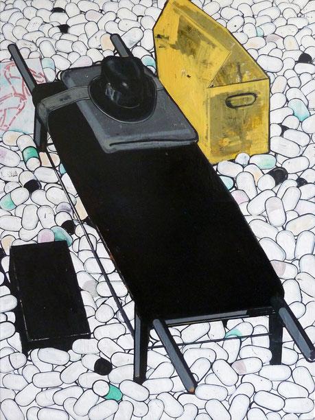 """Schögels Schicksal, III."", 2013, 160 x 110 cm, Öl auf Leinen"