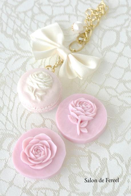 carving カービング オリジナル クレイ 型 バラ 薔薇