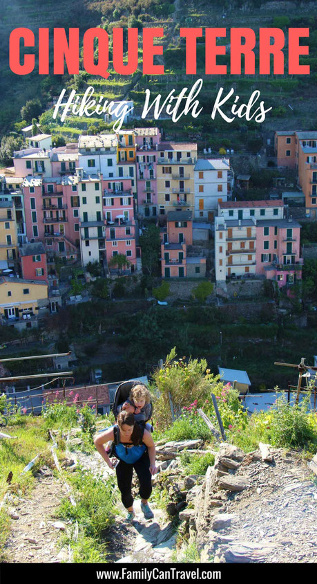You can still hike Cinque Terre, Italy with small kids and we'll tell you how! Don't go until you've read this post! #familytravel #italy #travelwithkids #hikingwithkids