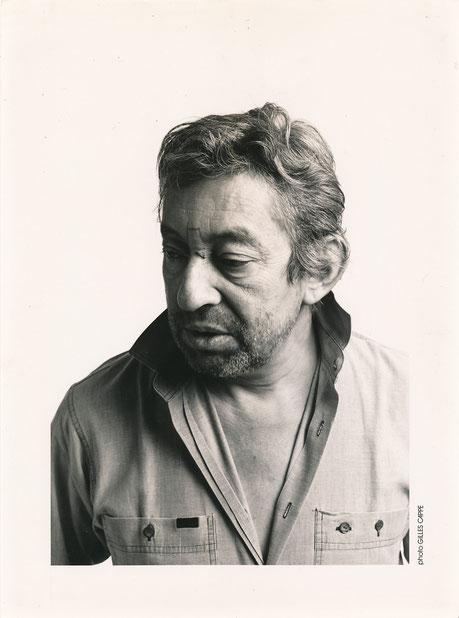 Serge Gainsbourg photo photographie couverture 45t Les Enfants de la chance. Gilles Cappé