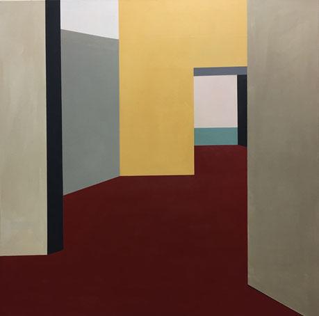 Farbräume 13, Acryl, 2019, 100 x 100 cm