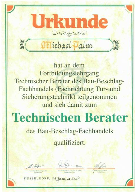 SCN Nordhorn Technischer Berater Baubeschlag