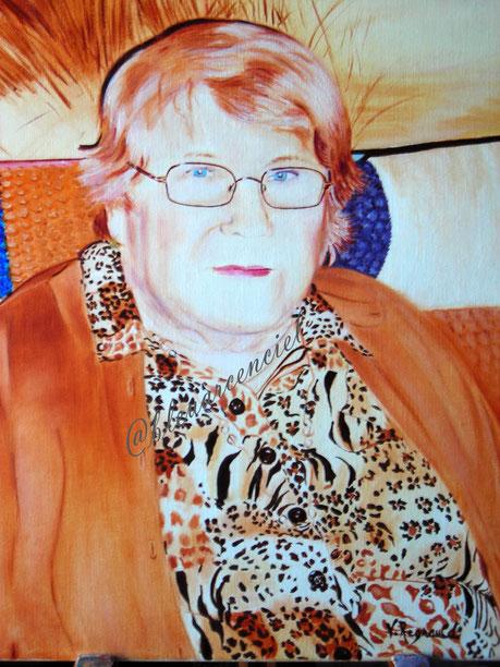 2008 Peinture à l'huile sur toile de coton 38/46 cm d'après photo