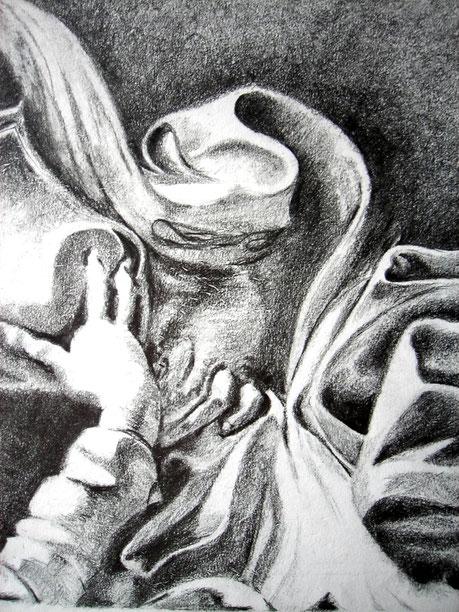 2002 Dessin au crayon HB sur feuille canson 24/32 cm d'après photo