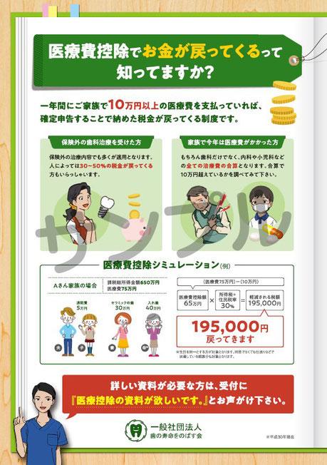 医療費控除 茨木市 永井歯科医院