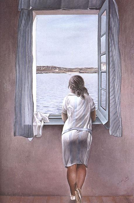 Сальвадор Дали. Женская фигура у окна