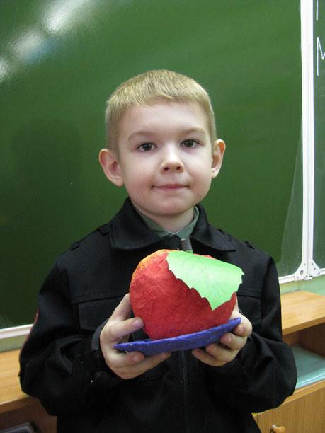"""Елькин Дима Поделка """"Яболчко наливное"""""""