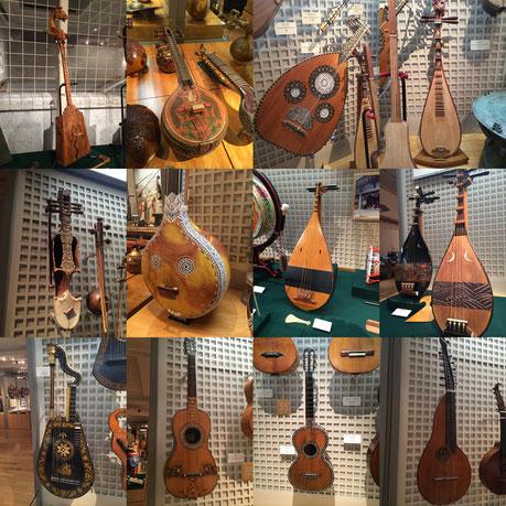 浜松市楽器博物館の弦楽器たち