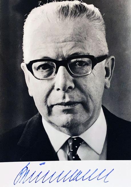 Autograph Gustav Heinemann Autogramm