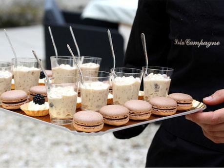 Plateaux pièces cocktails sucrées; macarons, tartelettes et verrines