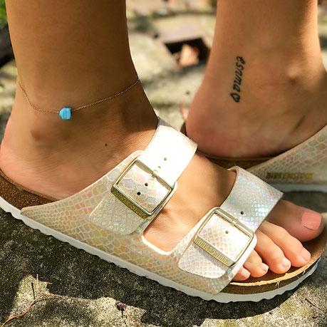 Suenos Jewellery Fußkettchen Opal