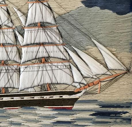 Sailors Woolwork or Woolie mid 19th century