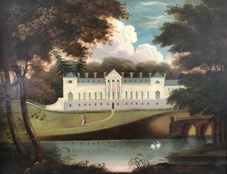Woburn Abbey Bedfordshire oil on canvas