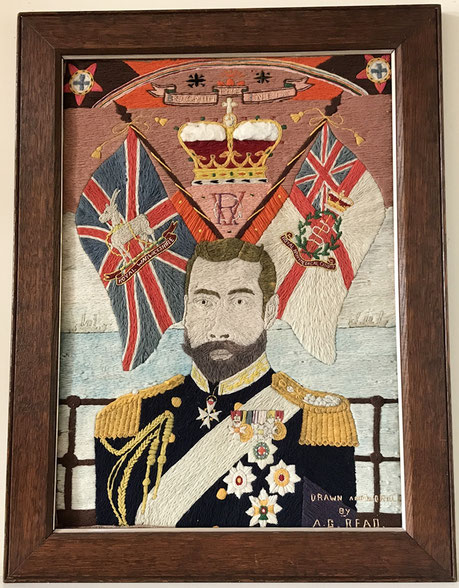 Woolwork picture of King George V dated 1918
