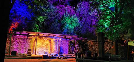 Beleuchtung für das Dorfplatz Open Air - 2019