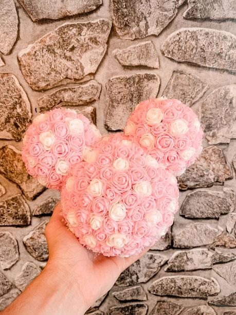 MAGICAL MOUSE rosa/weiß gepunktet