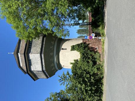 Der alte Wasserturm am Bahnhof in Bischofsheim