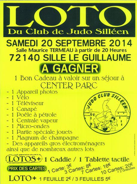 Loto du Judo Silléen le 20 septembre 2014