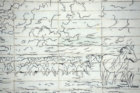 Mural sketch in Chernobyl