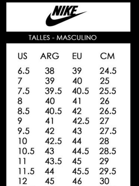 instante Ensangrentado ex  TABLA DE TALLES - Página web de exportandobotinescbaarg