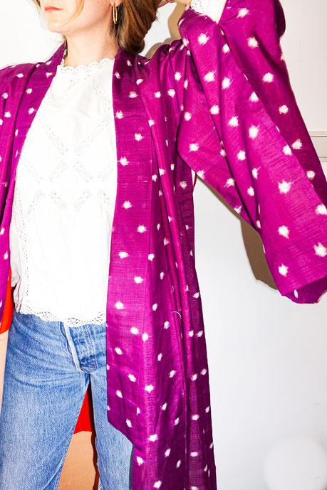 Felicita Vintage - Kimono vintage Joan ikat