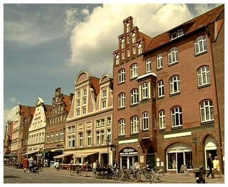 Lüneburg  Giebelhäuser Am Sande