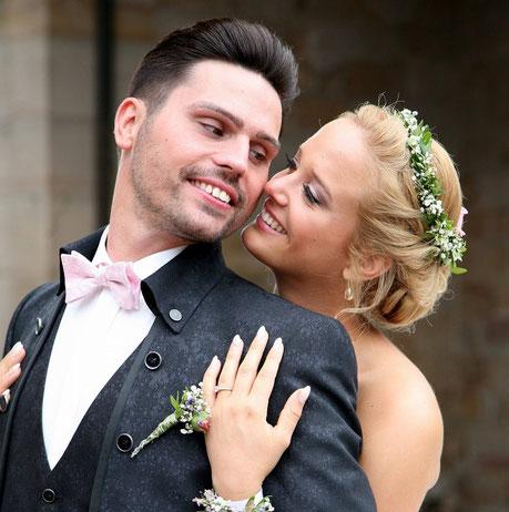 Privataufnahme Brautpaar